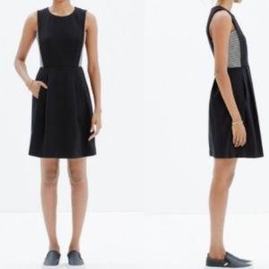 Madewell Black Stripe Insert Mini Dress